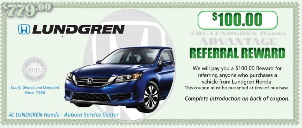 $100.00 referral reward