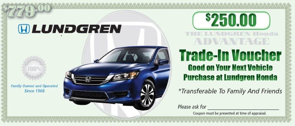 $250.00 trade-in voucher