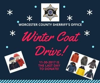 Worcester County Sheriff's Annual Winter Coat Drive