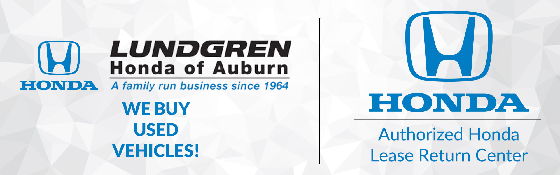 Lundgren of Honda of Auburn is now your Authorized lease return center for all Honda Leases