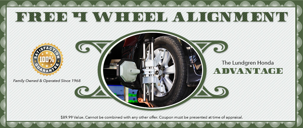 Free 4 wheel alignment