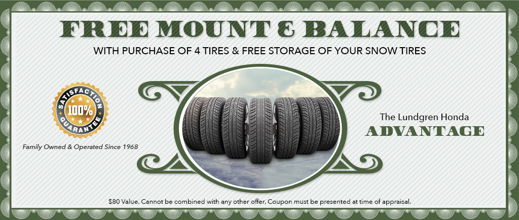 $80.00 value Free mount and balance
