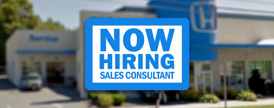 Now Hiring Sales Consultant