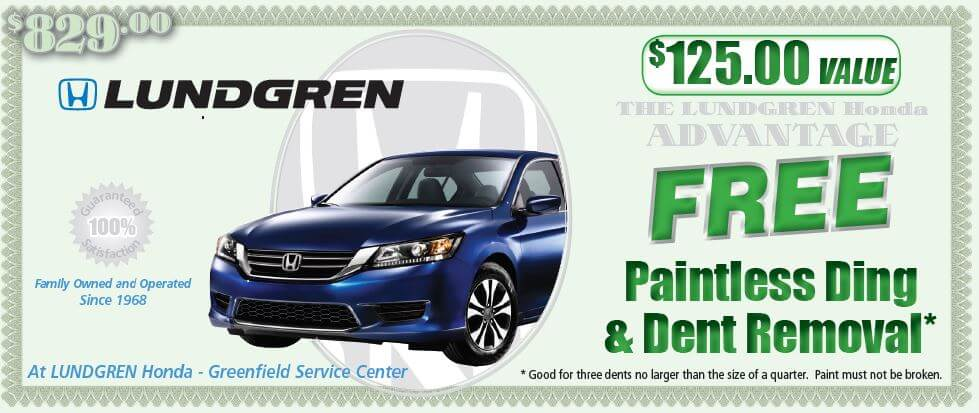 Free Paintless Dent Removal