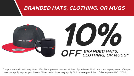 10% Off Branded Hats, Clothing, or Mugs*