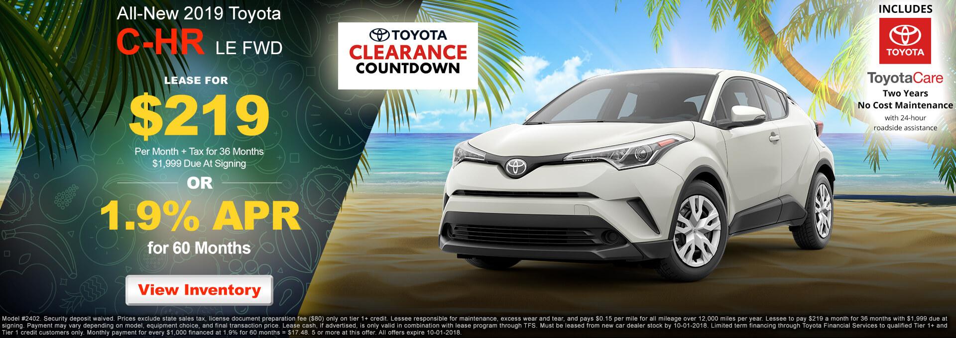 2018 Toyota CH-R $219