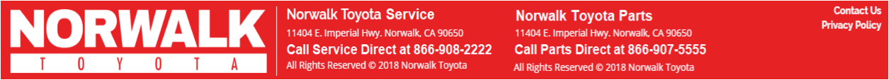 Norwalk Toyota Parts and Service
