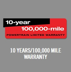 10 Years/100,000 Mile Warranty
