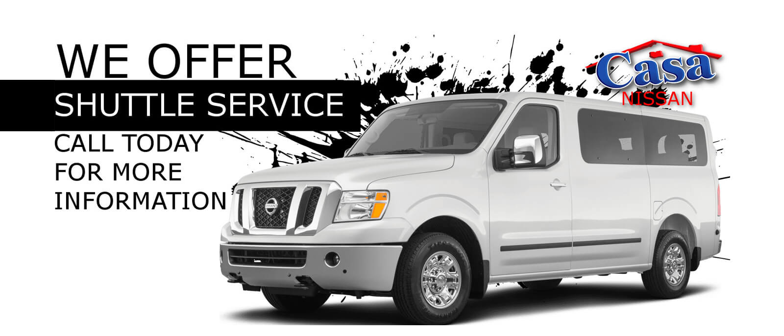 We Offer Shuttle Service! Call today for more information