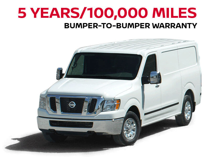 5 years/100,000 miles bumper-to-bumper Warranty