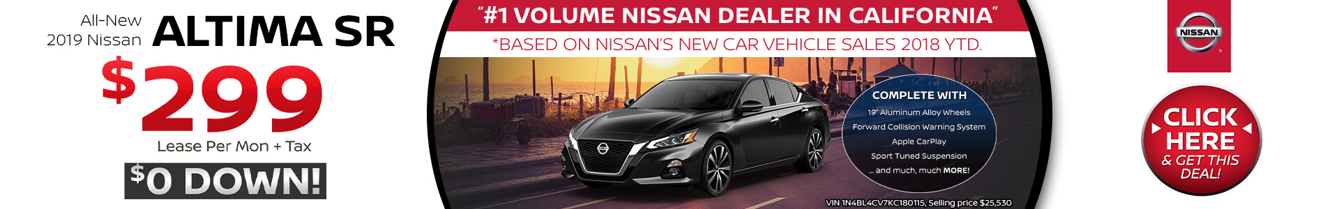 Nissan Altima Lease $299