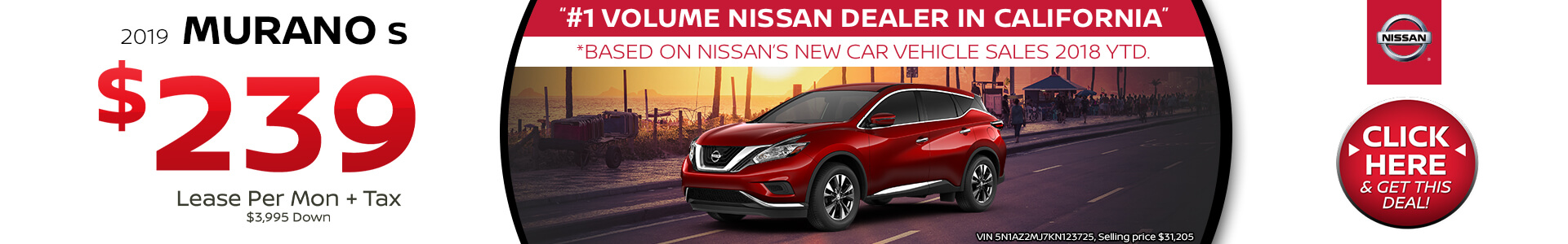 Nissan Murano Lease $239