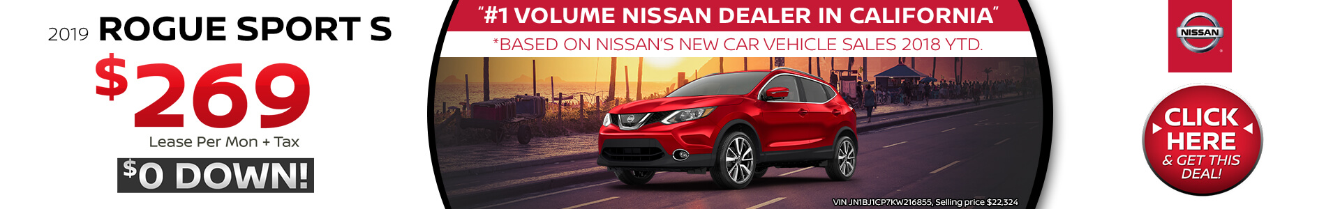 Nissan Rogue Sport Lease $269