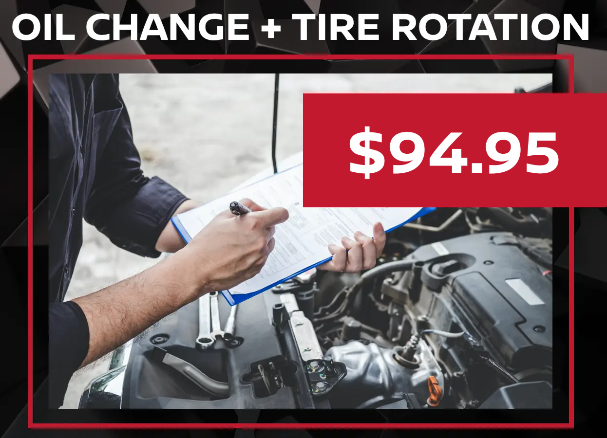Nissan Oil Change and Tire Rotation Coupon