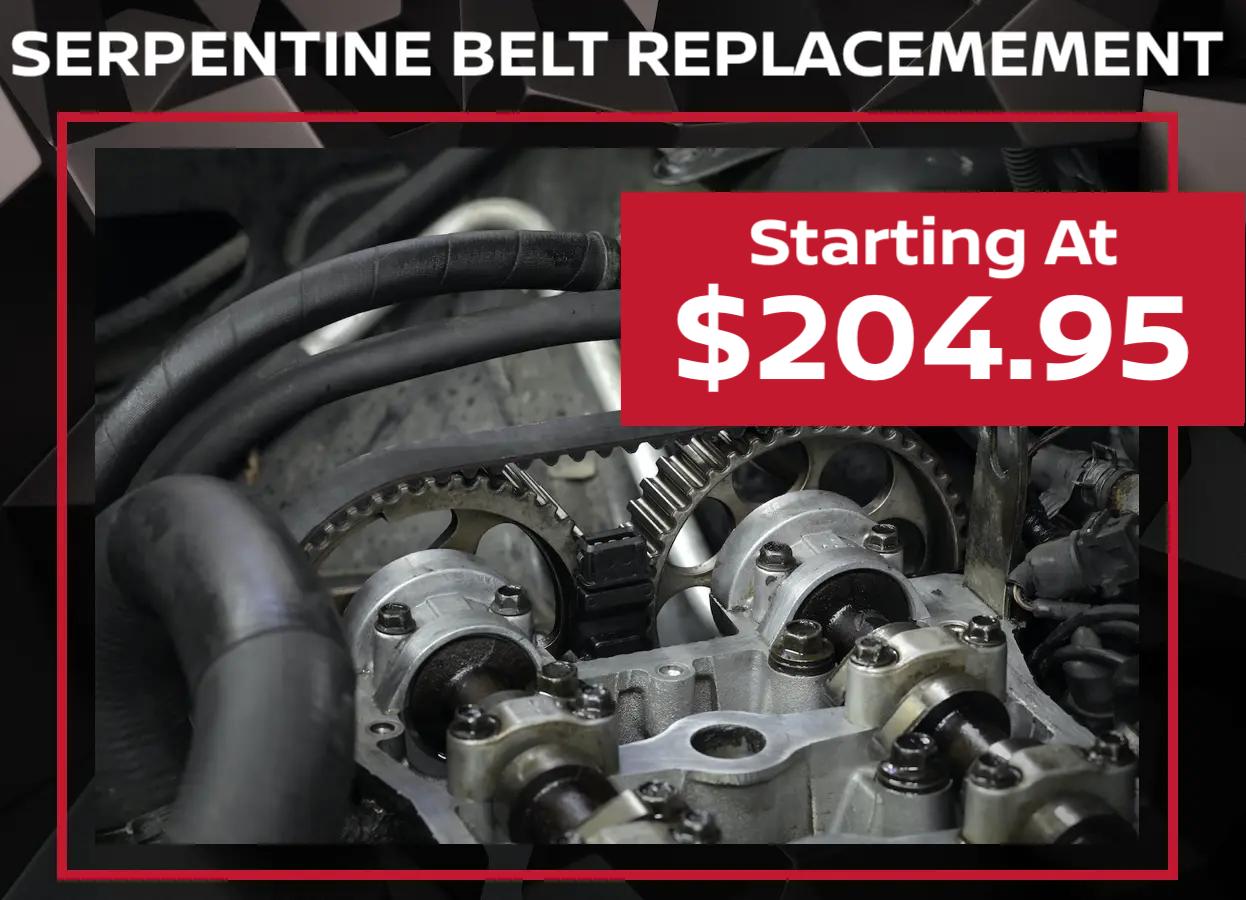 Nissan Serpentine Belt Special