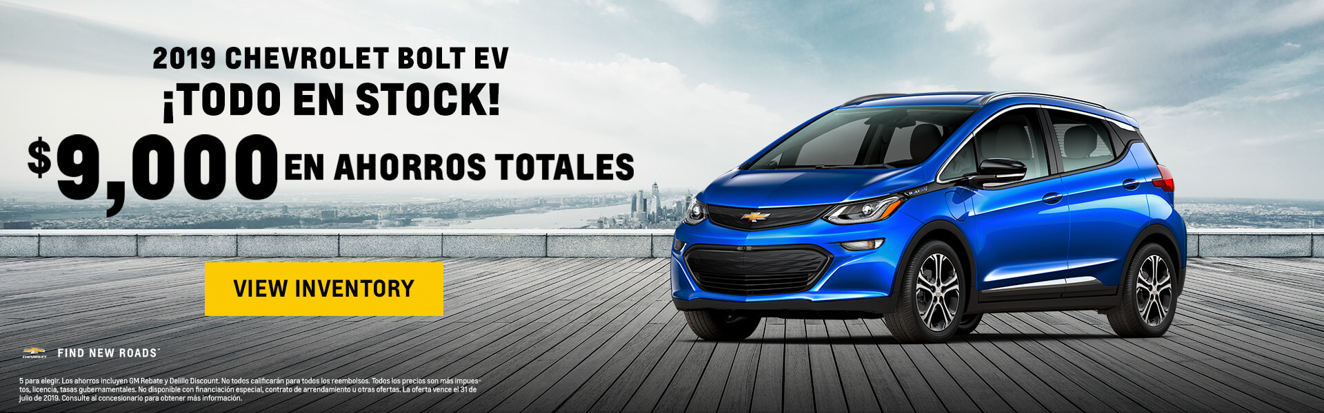 Chevy Bolt EV $9000 Savings