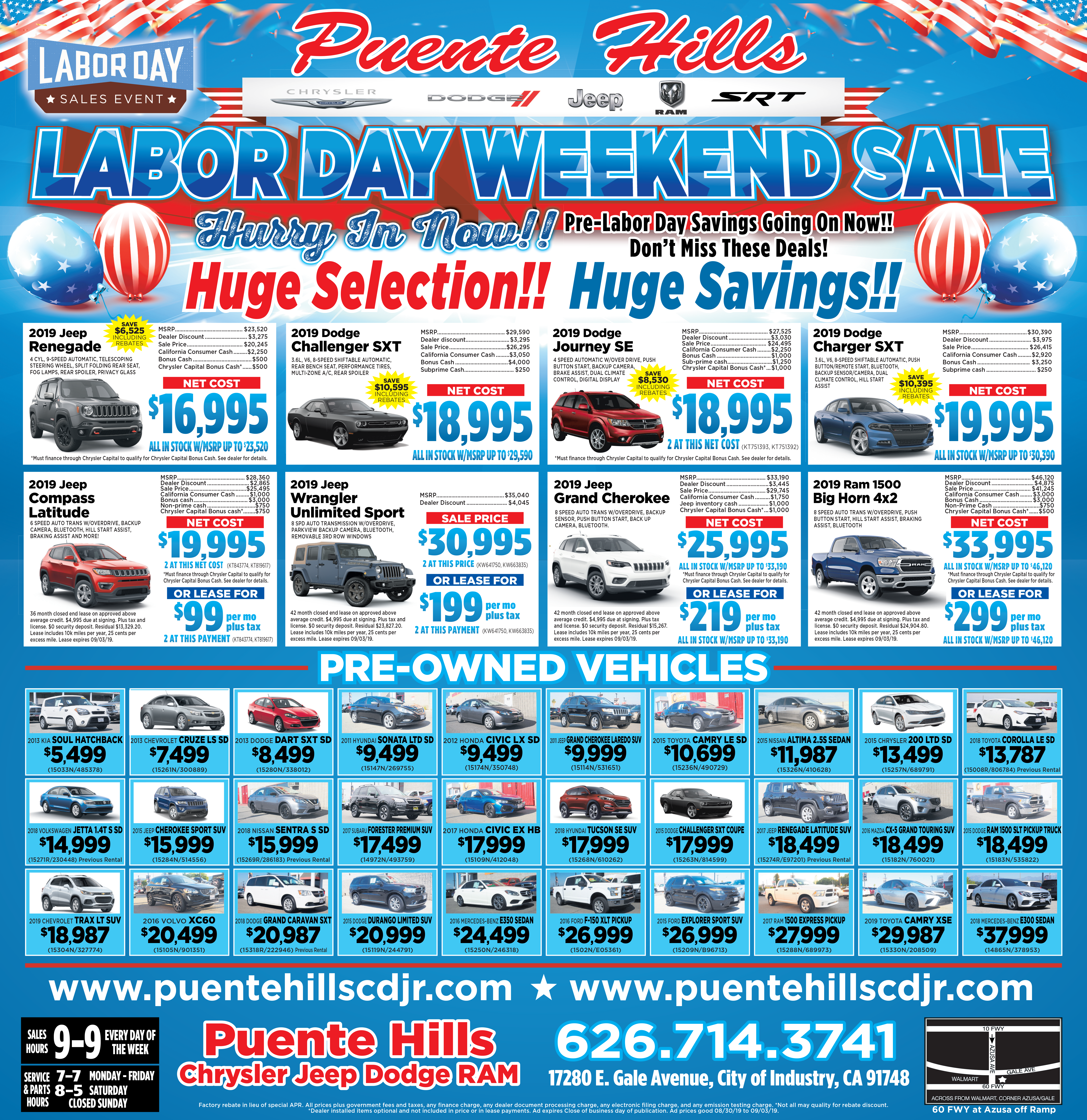 Labor Day Specials