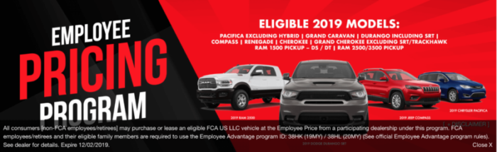 Los Angeles Jeep Black Friday Employee Pricing