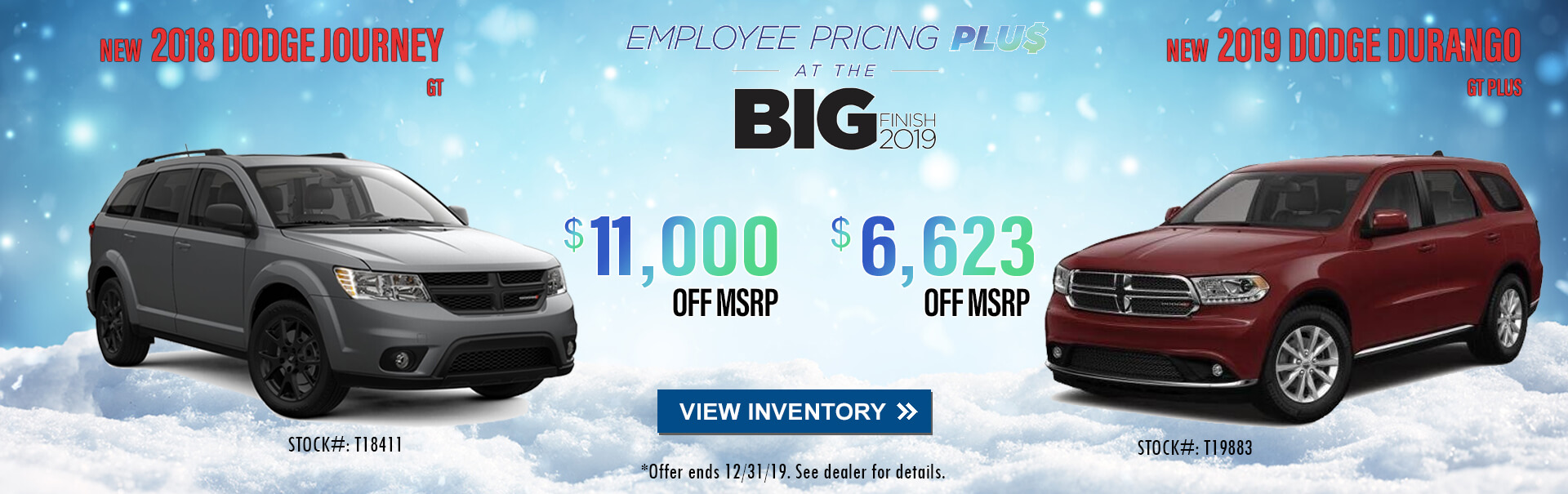 Dodge Employee Pricing Plus at the Big Finish near Alhambra CA