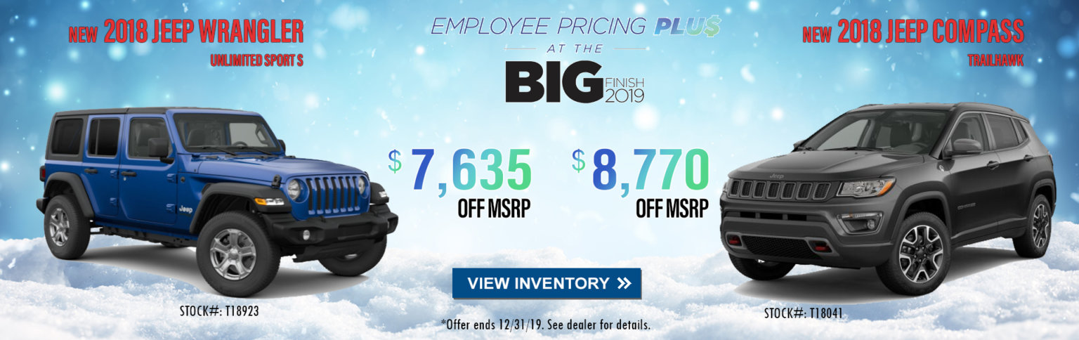 Jeep BIG Finish 2019 Employee Pricing Plus in City of Industry CA