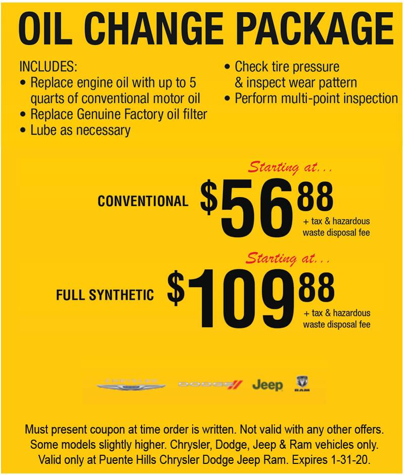 Oil Change Package