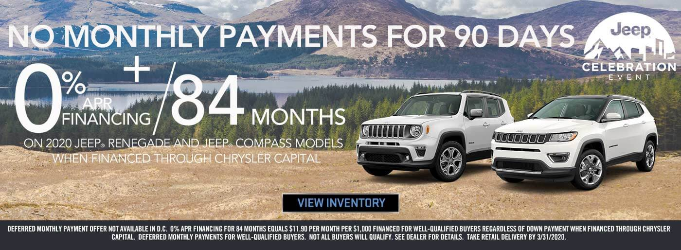 Jeep No Payments For 90 Days in City of Industry CA