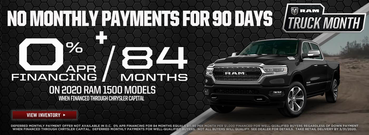 RAM No Payments For 90 Days near West Covina CA