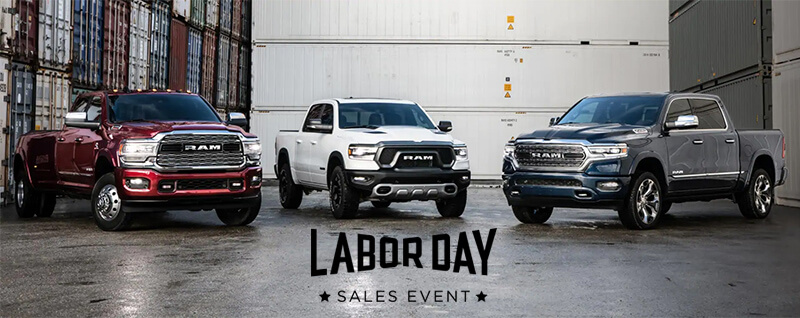 Puente Hills Ram - Ram Labor Day Sales Event near West Covina CA