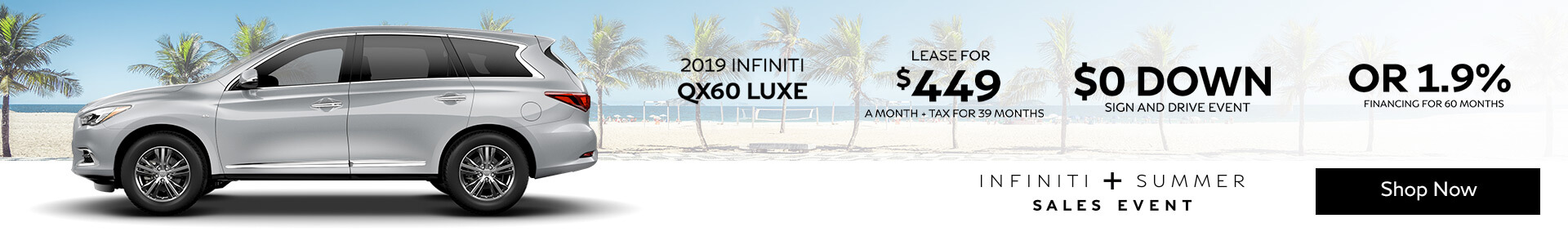 QX60 LUXE Lease for $399