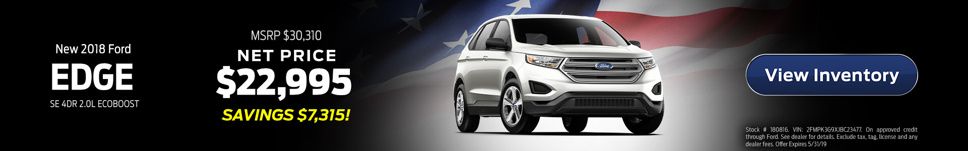 Ford Edge $23,495 Purchase