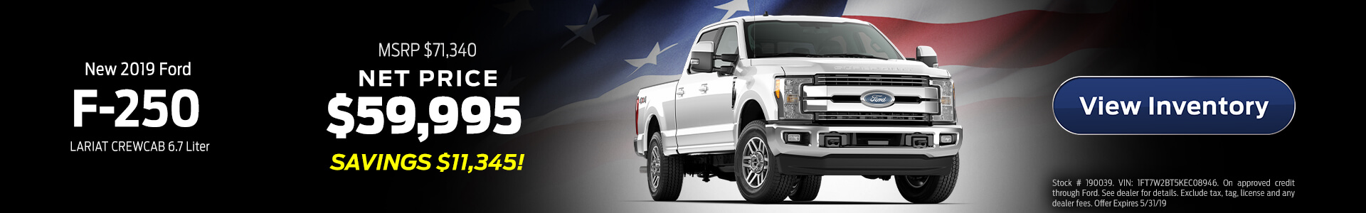 Ford F-250 $59,995 Purchase