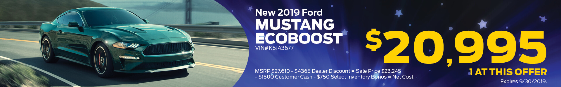 MJS Ad - Mustang EcoBoost Coupe