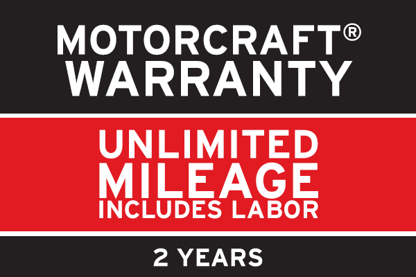 Motorcraft Parts Are Covered For A Full Two Years With Unlimited Mileage.