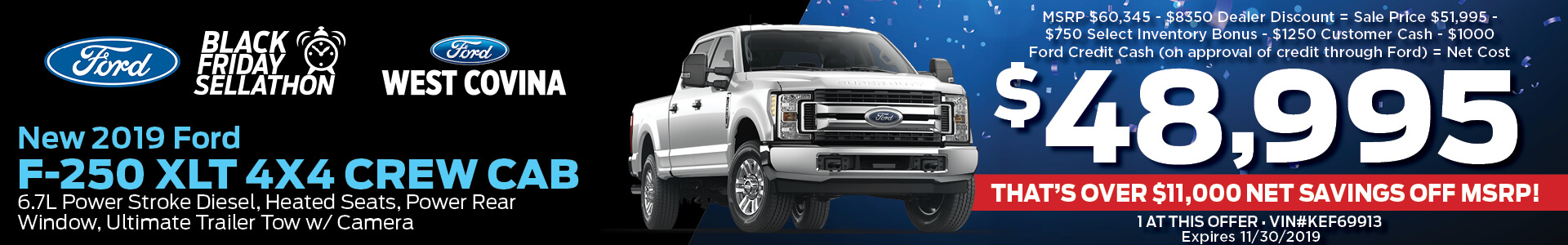 Ford F-250 $48995 Purchase