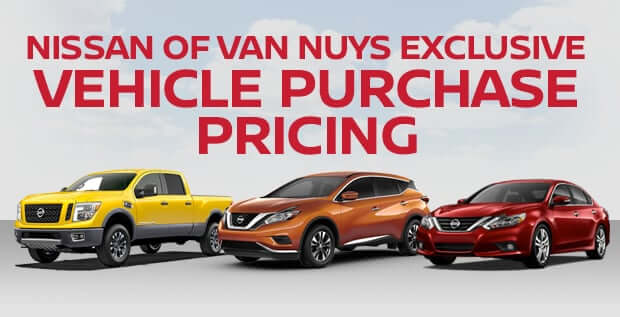 Nissan of Van Nuys Exclusive Vehicle Purchase Pricing