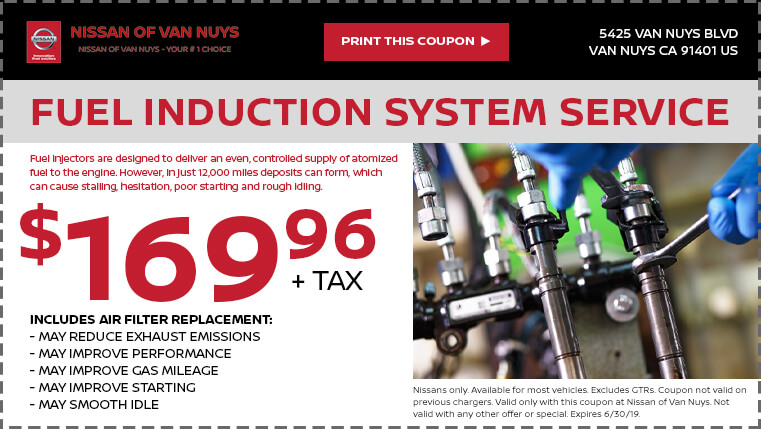 Fuel Induction Service >> Fuel Induction System Service Nissan Of Van Nuys