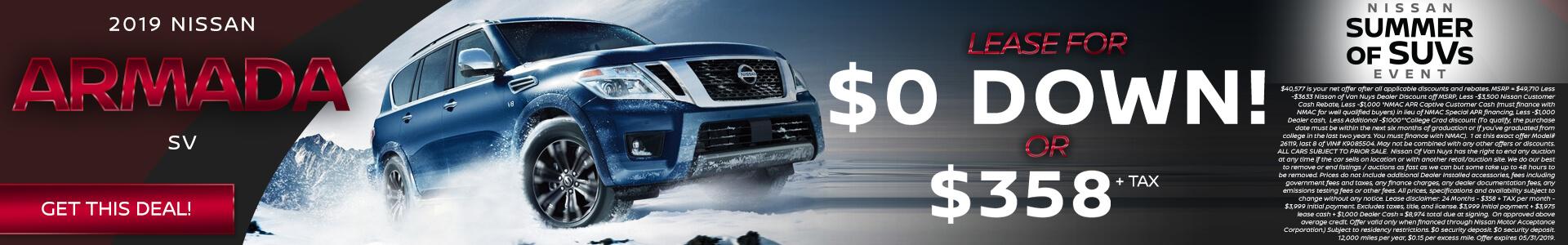 Nissan Armada $40,577 Purchase
