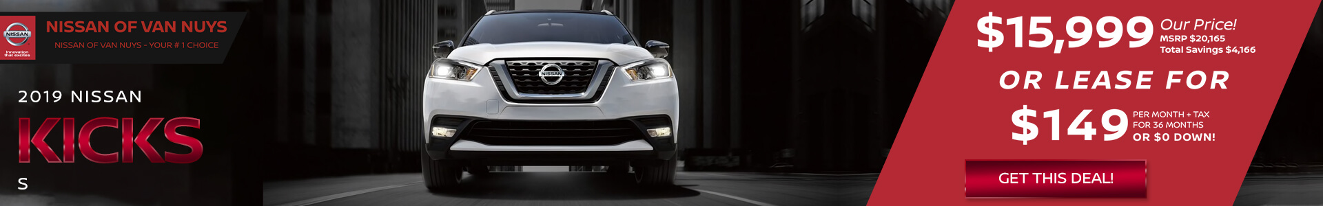 Nissan Kicks - Lease for $249