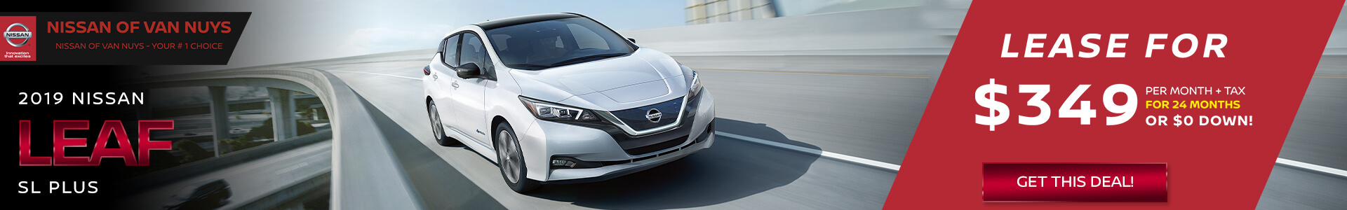 Nissan LEAF - Lease for $349