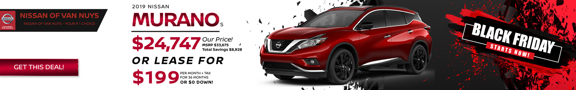 Nissan Murano - Lease for $219
