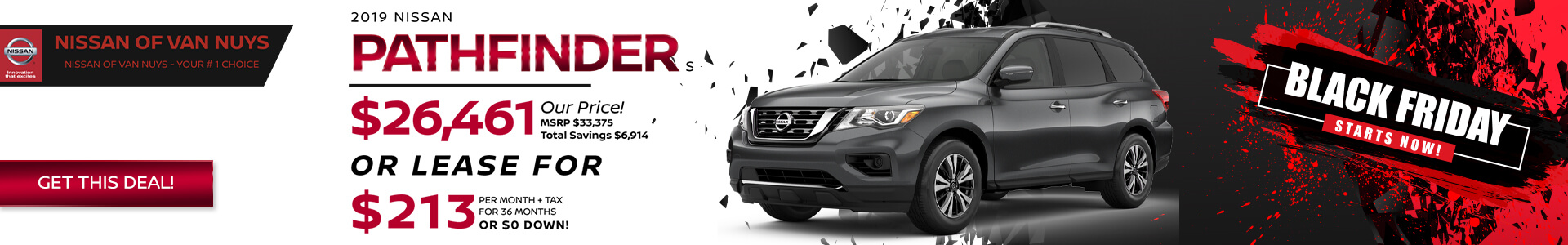 Nissan Pathfinder - Lease for $289