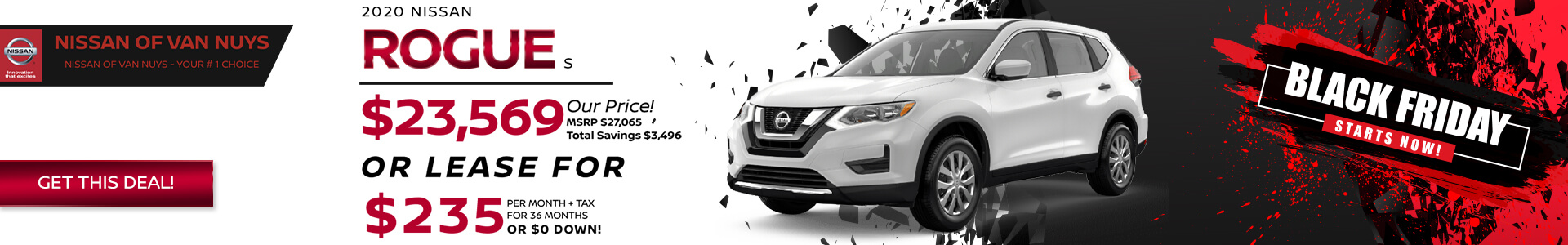 Nissan Rogue - Lease for $189