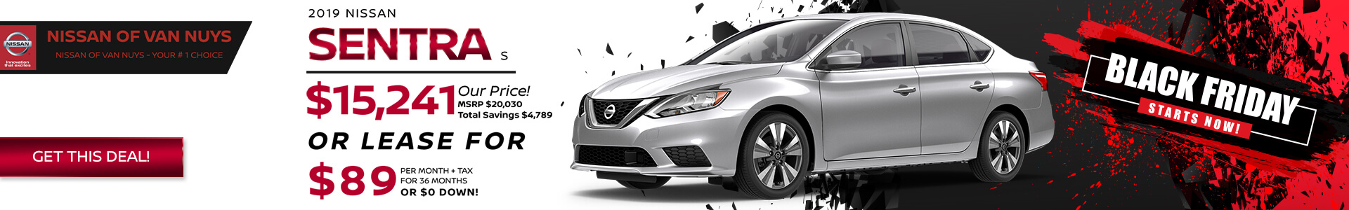 Nissan Sentra - Lease for $139