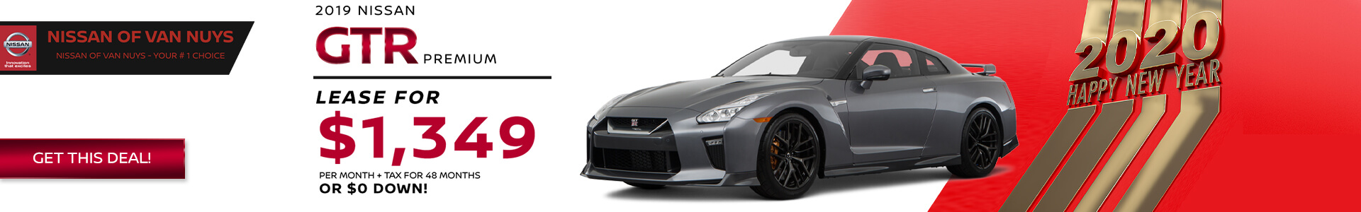 2019 Nissan GTR - Lease for $1349