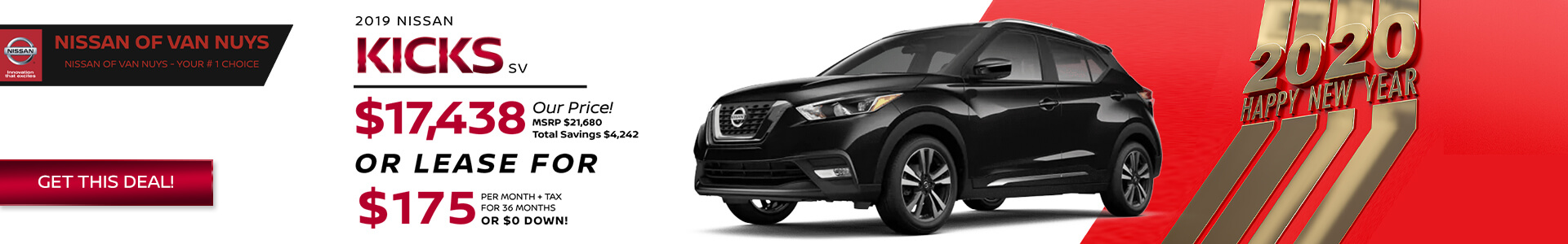 Nissan Kicks - Lease for $75