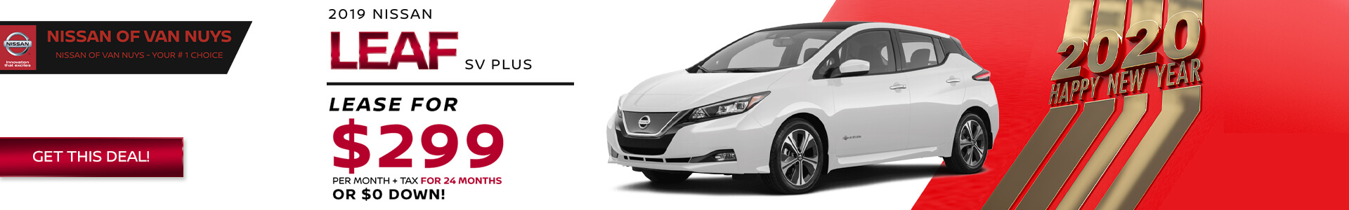 Nissan LEAF - Lease for $299
