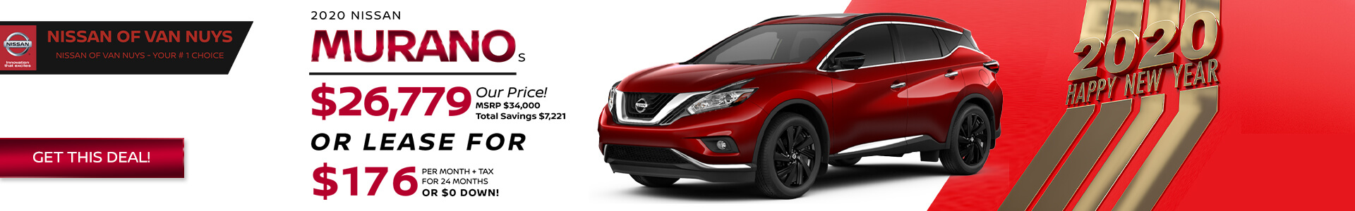 Nissan Murano - Lease for $176
