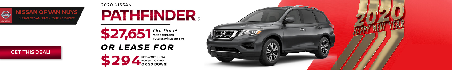 Nissan Pathfinder - Lease for $294