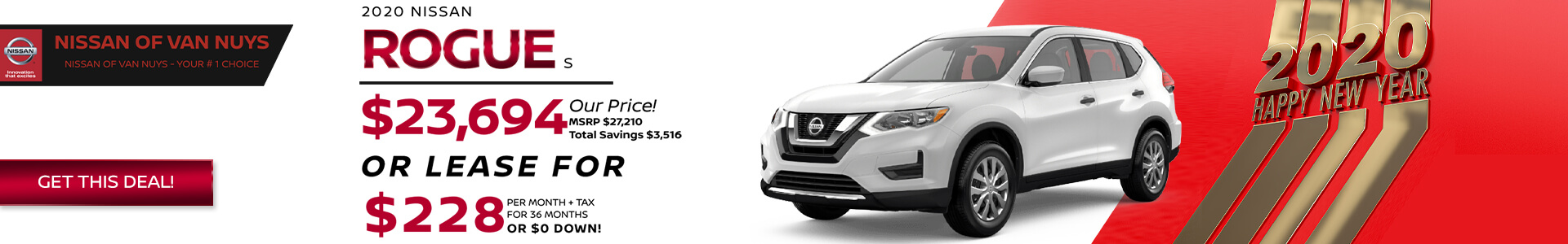 Nissan Rogue - Lease for $228