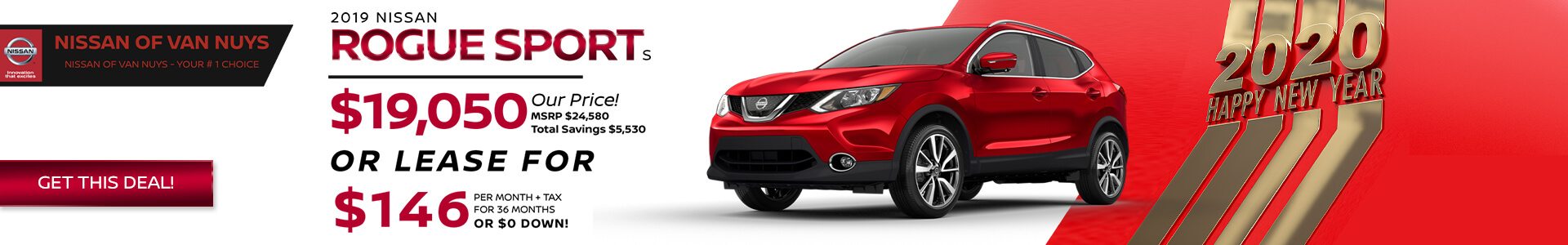 Nissan Rogue Sport - $19,050 Purchase/Lease